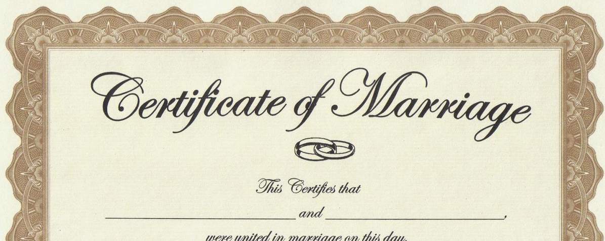 from Odin california gay marriage license
